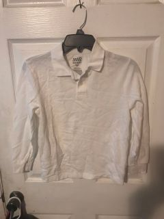 White long slv polo from Old Navy worn once for school. Size (