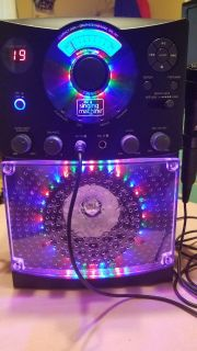 The singing machine CD-G karaoke with lights