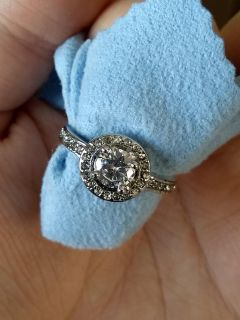 Size 7, 925 sterling silver CZ engagement ring