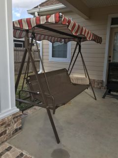 Patio/ porch swing with canopy