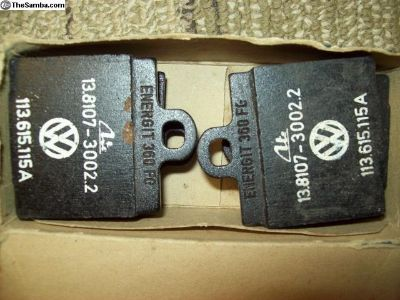 NOS single pin ATE VW brake pads p/n 113.615.115A