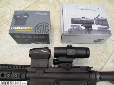 For Sale: Sig Romeo 5 with Vortex 3x Magnifier