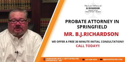 B.J.Richardson: Professional Probate Attorney in Springfield!!