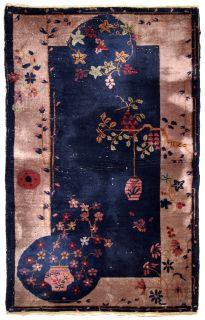 Handmade antique Art Deco Chinese rug, 1B624