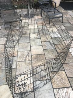 Pet cage folds to different sizes 24 in height.
