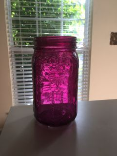 Home & Garden purple mason jar decor