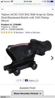 For Sale: Authentic Trijicon ACOG 4x32 BAC Dual Illuminated Riflescope