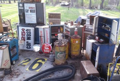 Vintage Gas Station Automotive Memorabilia
