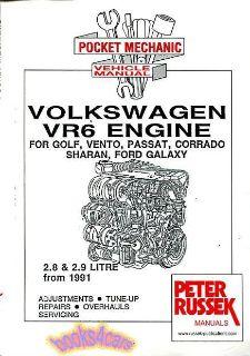 Purchase VOLKSWAGEN VR6 ENGINE SHOP MANUAL SERVICE REPAIR BOOK CORRADO PASSAT GOLF JETTA motorcycle in Seattle, Washington, US, for US $29.95