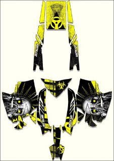 Buy 2012 and 2013 Arctic Cat Pro SNOWMOBILE SLED TOXIC GRAPHIC KIT WRAP DECALS motorcycle in Ogden, Utah, United States, for US $249.99