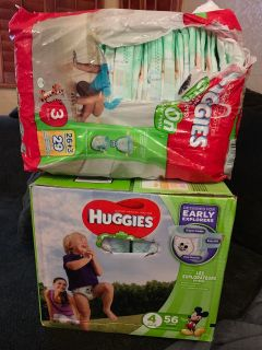 Huggies slip on size 3 & 4 asking $15 OBO