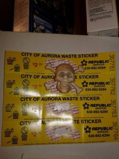 City of aurora waste stickers 4 of them