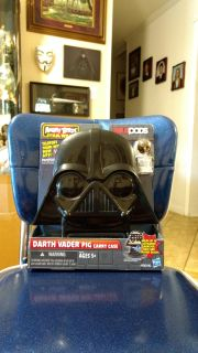 New in package Angry Birds, Star Wars, Telepods, Darth Vader pig carrying case by Hasbro with one figure and base (Chewbacca Bird). Average
