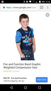 Weighted compression vest. Size small
