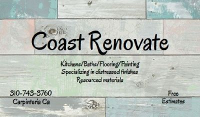 COAST RENOVATE-Painting, Distressed Finishes, New Kitchens, Bath Renovations