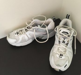 White & Silver Athletic Shoes by Ryka