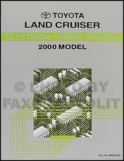 Buy NEW 2000 Toyota Land Cruiser Wiring Diagram Manual Electrical Shop Repair motorcycle in Riverside, California, United States, for US $25.00