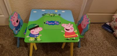 Peppa pig wood table