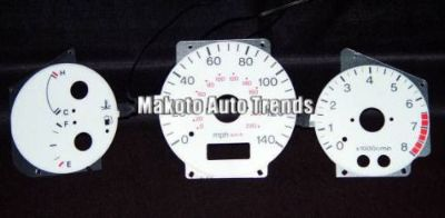 Find 1993-2003 Mazda Protege 99-03 w/ Tach 6 Color Glow Gauge White Face motorcycle in Monterey Park, California, United States, for US $24.99