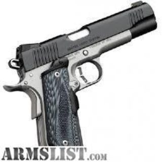 For Sale: Kimber Master Carry Custom Matte Black / Satin Silver .45 ACP 5-inch 8Rd Night Sights Crimson Trace Lasergrips