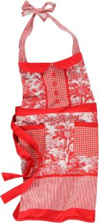 NEW MARTHA-STEWART-RED-WHITE-APRON