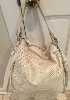 Steve Madden purse off white perforated with fringe tassels