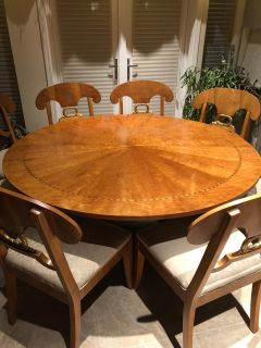 Maple Table + 8 Chairs