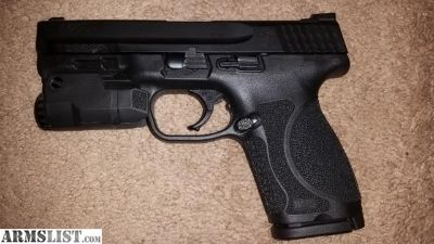 For Sale: M&p 2.0 compact with night sights & inforce aplc weapon light with holster