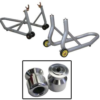 Buy Aluminum Silver Front and Rear Stands Slider Spools Aluminum Aprilia Tuono All motorcycle in Ashton, Illinois, US, for US $159.89