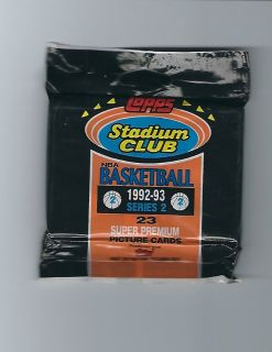1992-93 Topps Stadium Club Basketball Series 2 Trading Cards