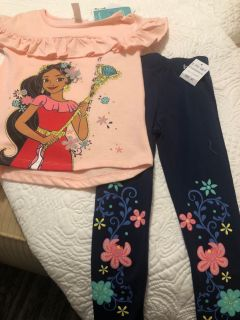 NEW Disney Elena of Avalon Outfit Size 4t