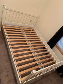 IKEA White Full Bed Frame