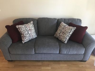 Couch with matching pillows