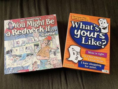 Redneck & What s Your Like board games