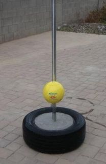 Tether Ball in Cement Tire