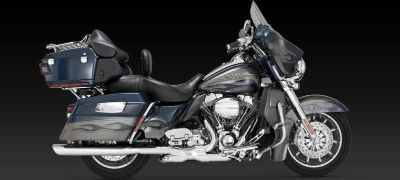Find Vance & Hines Twin Slash Oval Slip-On Exhaust 95-12 Harley Davidson Touring motorcycle in Ashton, Illinois, US, for US $503.96