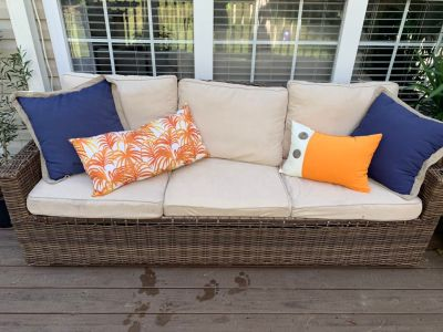 Outdoor wicker couch