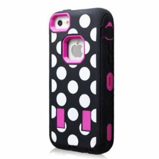iPhone 5 or 5s pink polka dot case with built in screen