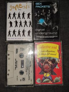 Meatloaf Collective Soul Digital Underground and Genesis Cassette Tapes