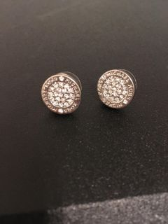 Michael Kors Silver Gorgeous earrings like new $17 PPU