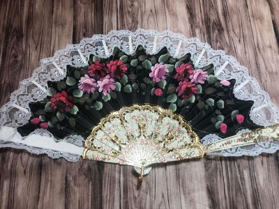 Gorgeous vintage hand painted fan