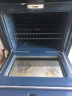 Glass top stove stainless steel used