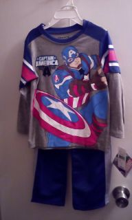 2 Pc. Captain America Boys Size 4T Outfit