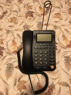 Black Corded Home Office Telephone