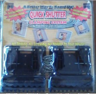 Quick Shutter Hurricane Clamps (2) Sets of clamps per package! Tested and Approved Product!