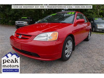 2002 Honda Civic EX (Red)