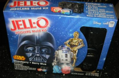 Star Wars Jigglers JELLO Mold Trays + Mix Darth Vader C3-P0 Chewy R2-D2