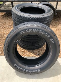 4-Transforce A/T 285/60/20 tires