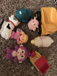Toys lot - fisher price little people, little tikes, cat, etc