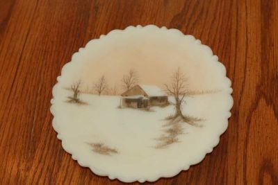 Fenton Decorative Plate Signed by A. Farley
